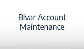 Bivar Account Maintenance